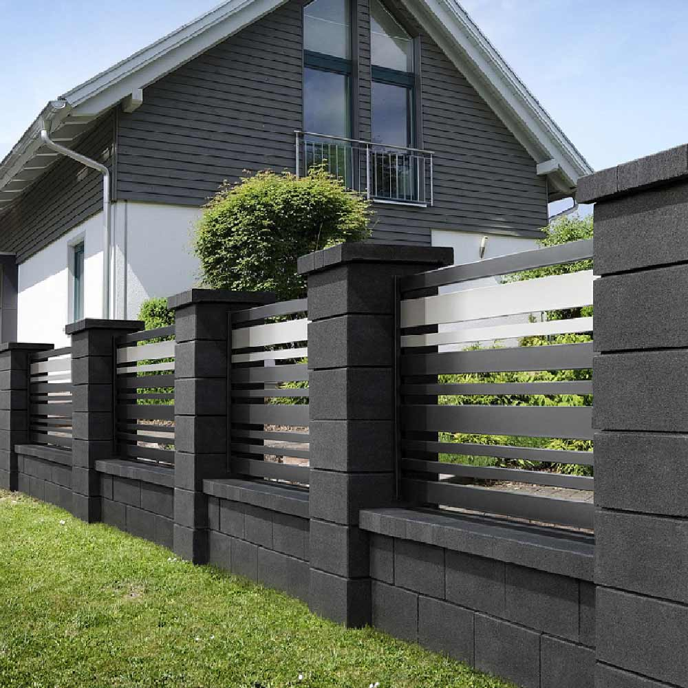 Zaun Doppelseitig Betonzaun Modern Modern Ekogarden