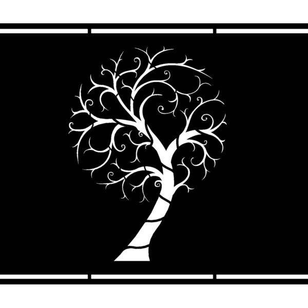 Metallzaun N31 künstlerisch Baum