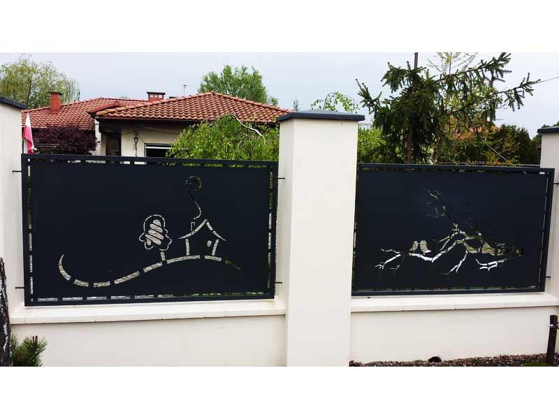 Metallzaun Sichtschutz Häuschen