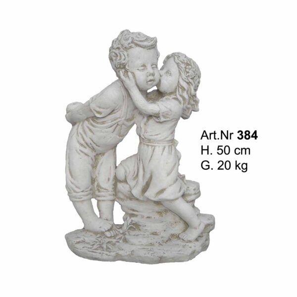 Betonfigur - Kinder küssen