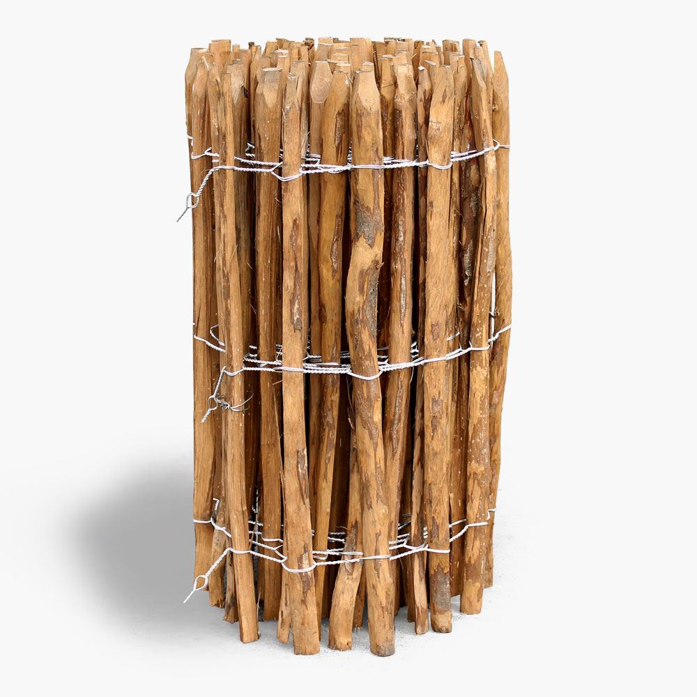 Rustikaler Holzzaun